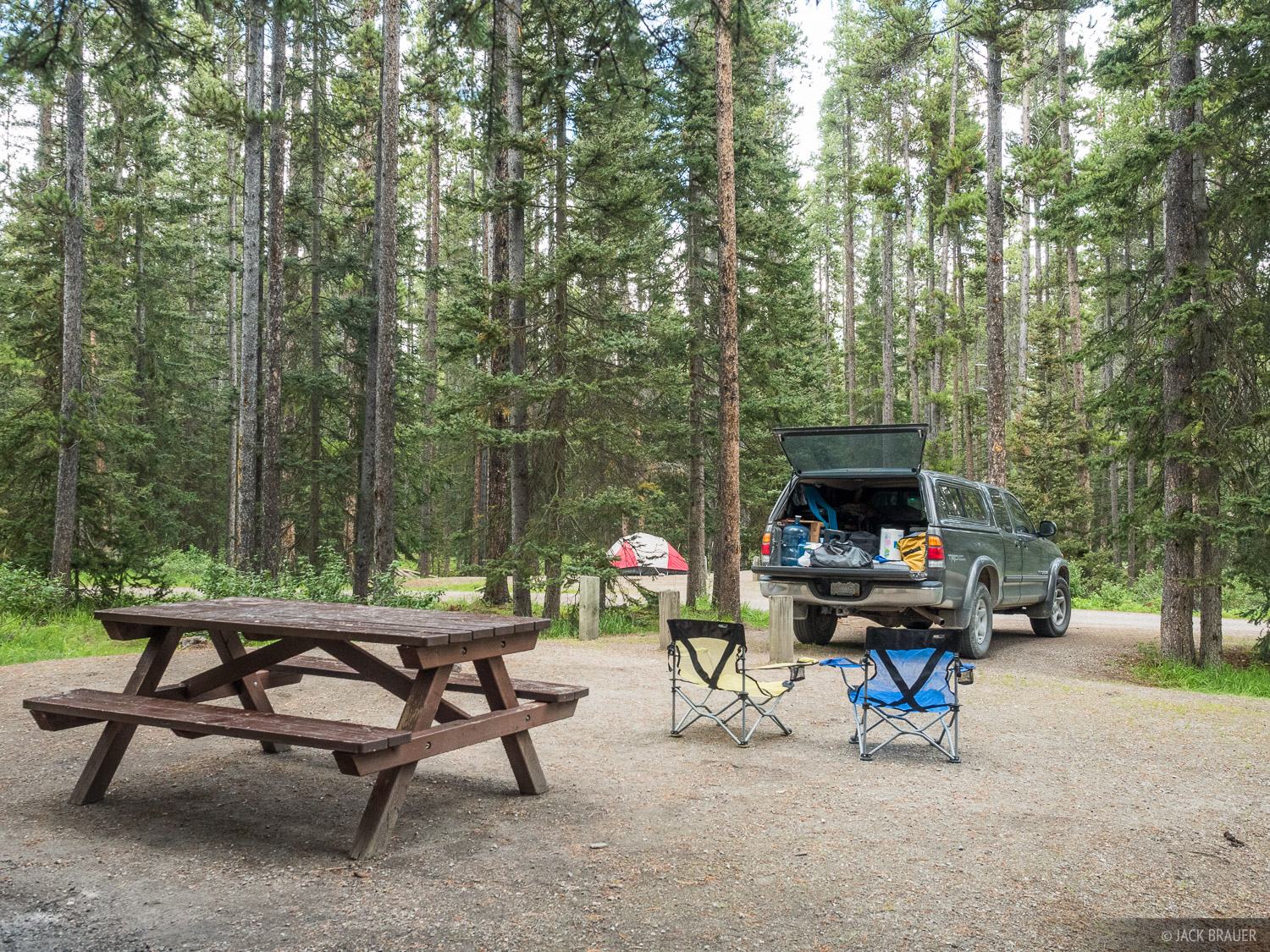 From Banff we were fortunate to book online literally the last available campsite at Lake Louise Campground, where we stayed...