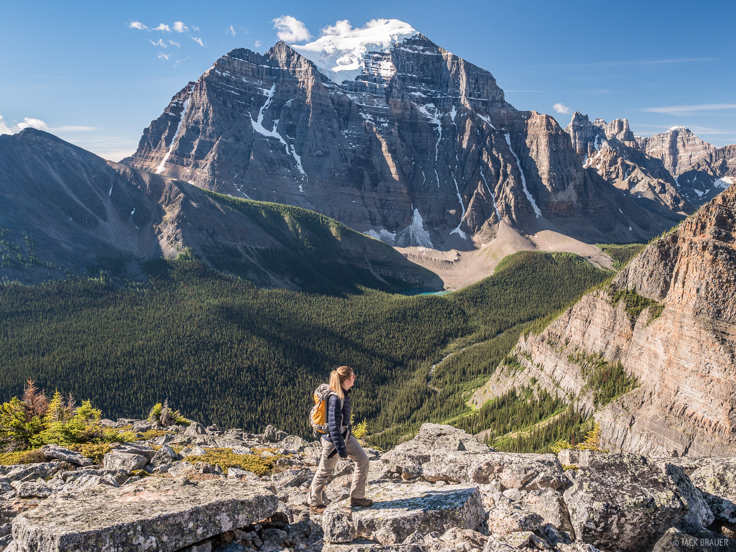 Alberta, Banff National Park, Canada, Canadian Rockies, Mount Temple, Saddle Mountain, hiking, photo