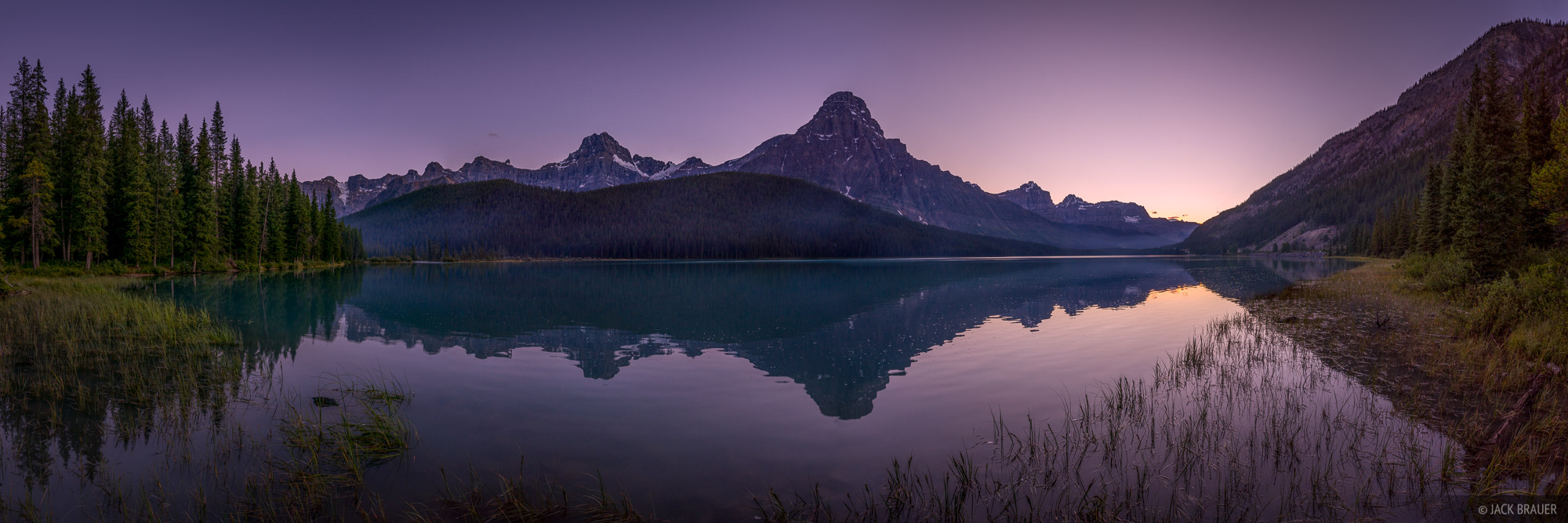 Alberta, Banff National Park, Canada, Canadian Rockies, Mount Chephren, Waterfowl Lakes, panorama