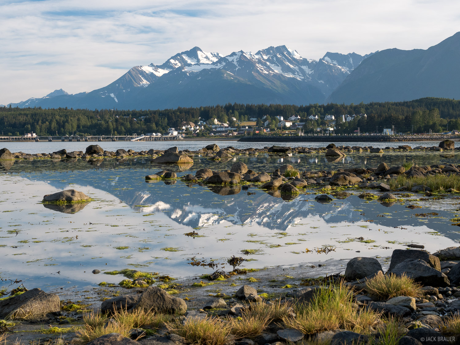 Alaska, Haines, Fort Seward, Chilkat Range, photo
