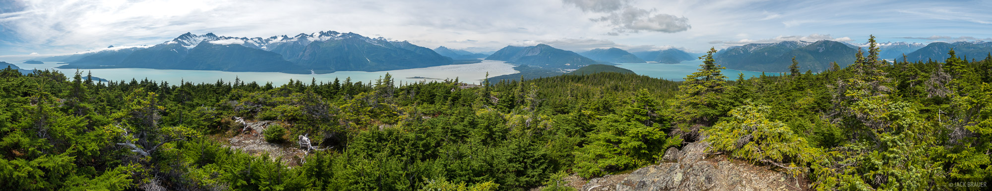 Alaska, Haines, Mount Riley, panorama, Chilkat Inlet, Chilkoot Inlet