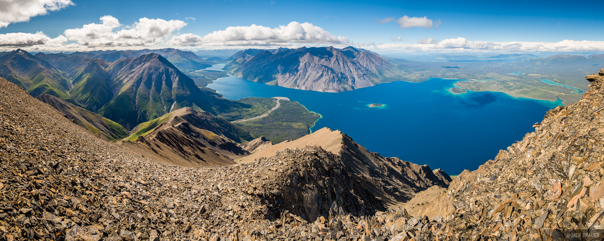 Canada, Kathleen Lake, King's Throne, Kluane National Park, Yukon, panorama
