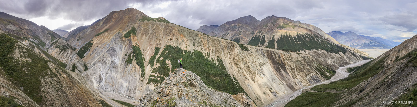 Panoramic view of the rugged Columbia Creek valley.