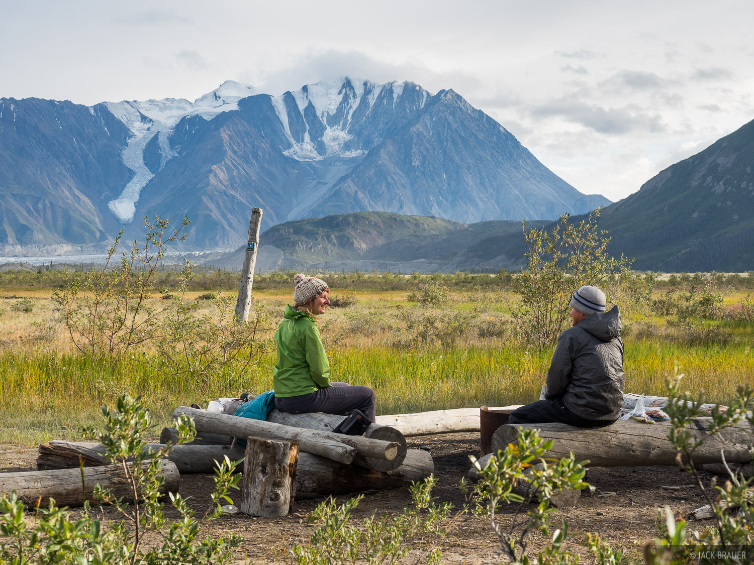 Our third evening in Kluane National Park, at the Canada Creek campsite.