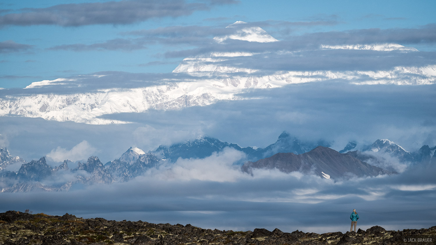 When Denali is covered in clouds (which is most of the time) you can't tell where the peak is or how big it is. But when the...
