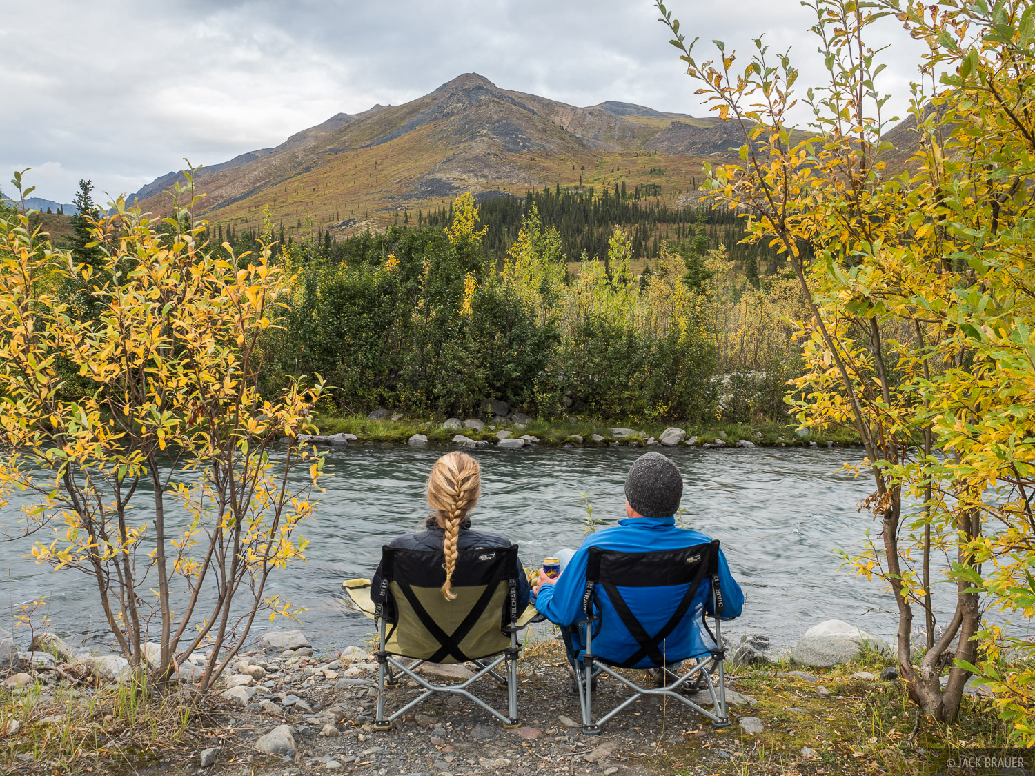 Before backpacking in Tombsone Range, we needed to wait out rainy weather, so we camped along the North Klondike River for about...