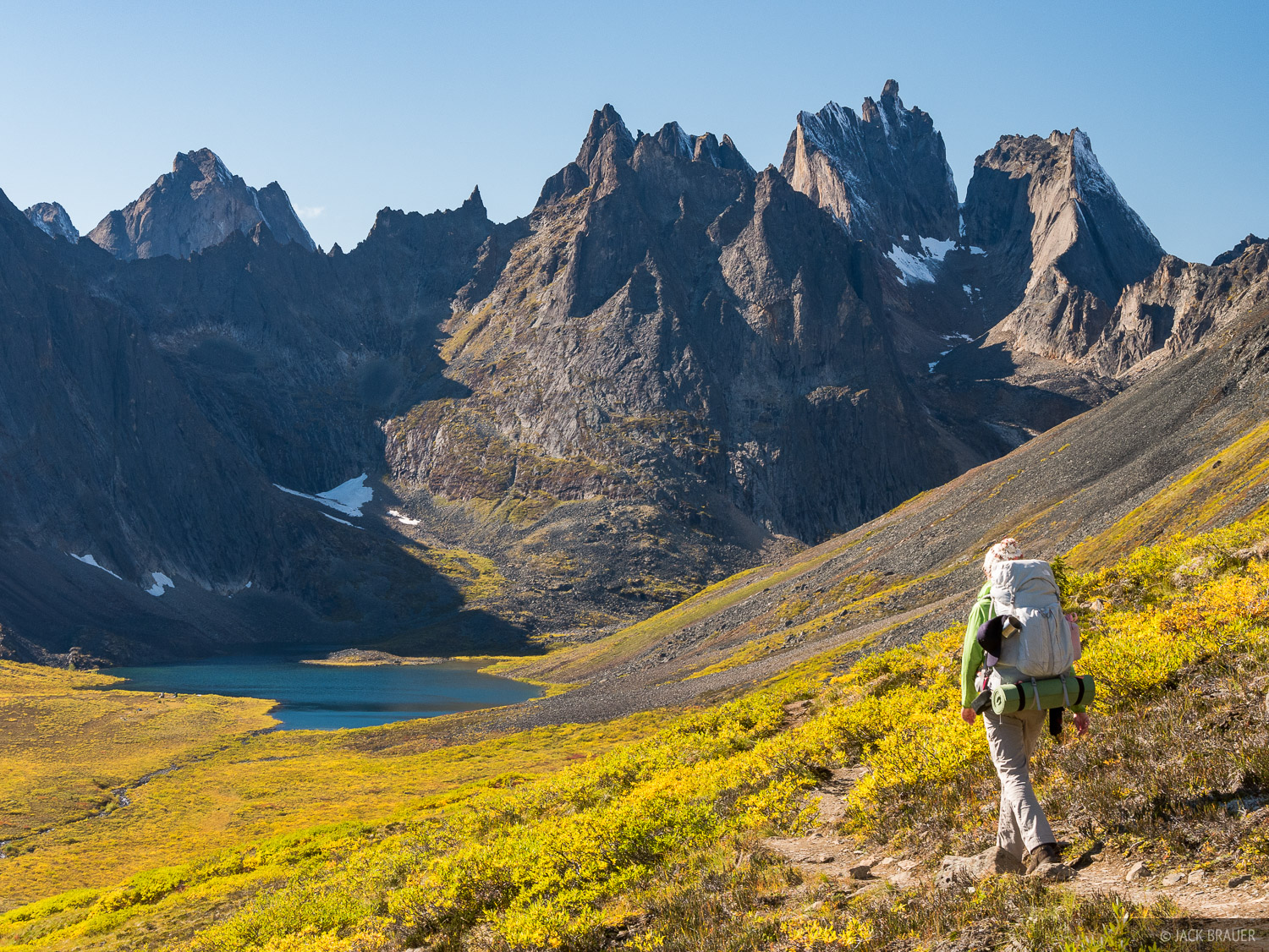 Backpacking in to the Tombstone Range. First stop: Grizzly Lake. At the end of August and beginning of September, the tundra...