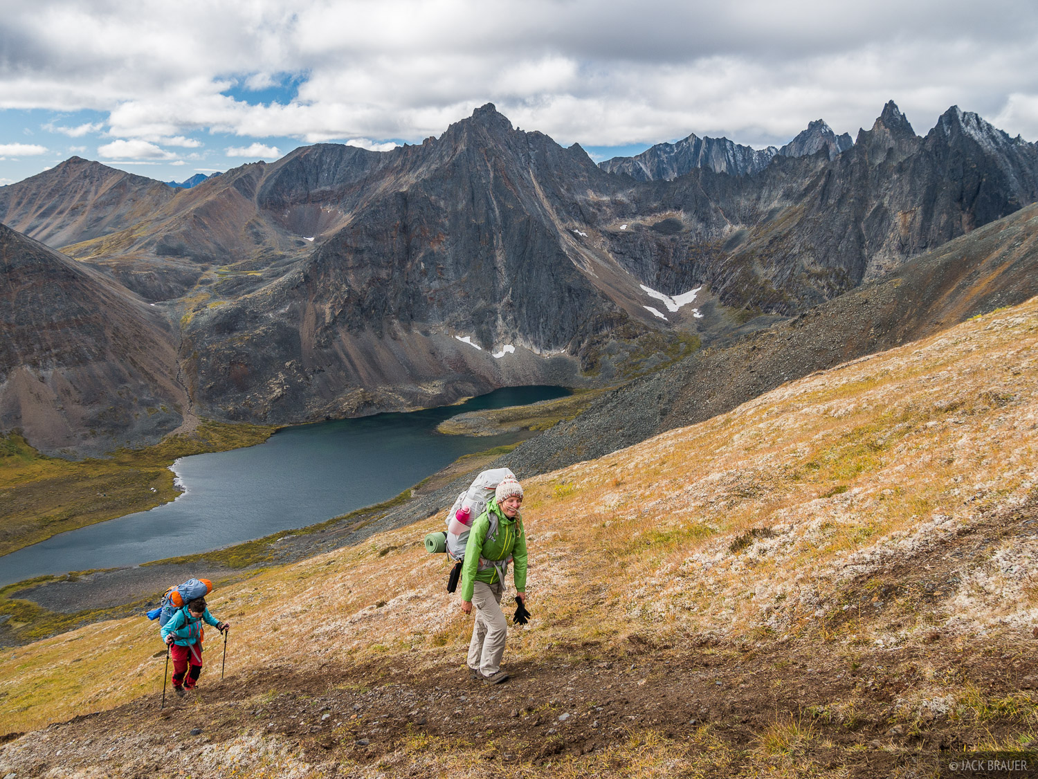 Canada, Glissade Pass, Tombstone Territorial Park, Yukon, hiking, Tombstone Range, photo