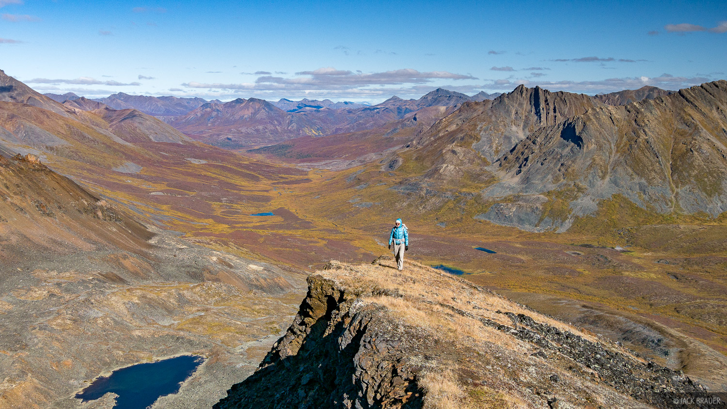During our layover day at Divide Lake, we hiked up nearby Mount Frank Rae, which offered a huge view of the Tombstone Range and...