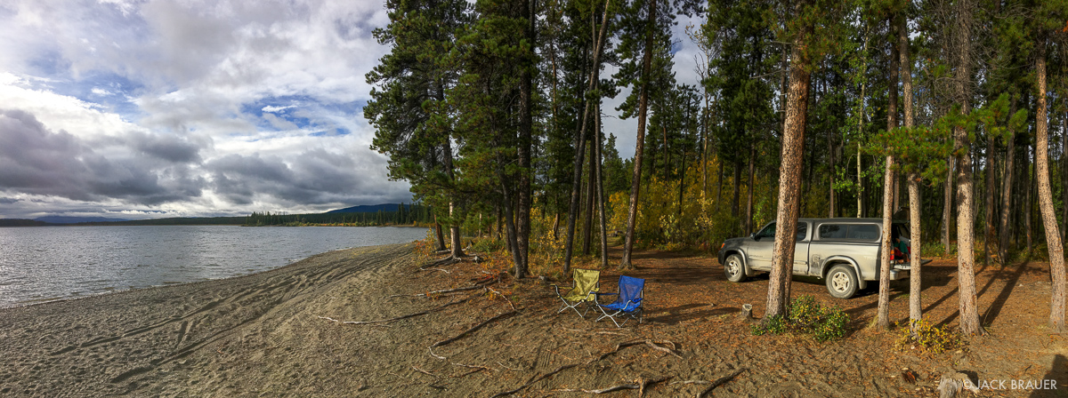 Back at Morley Lake again, our last night in the Yukon before entering BC again.