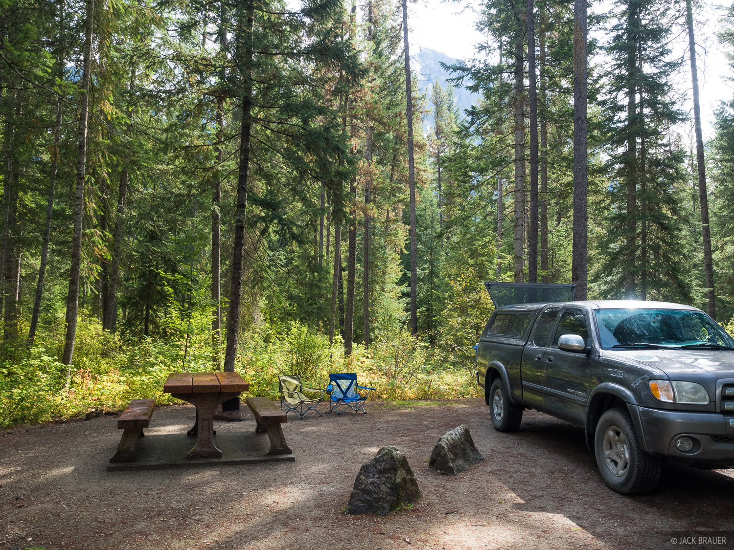 British Columbia, Canada, Robson Meadows Campground, truck, photo