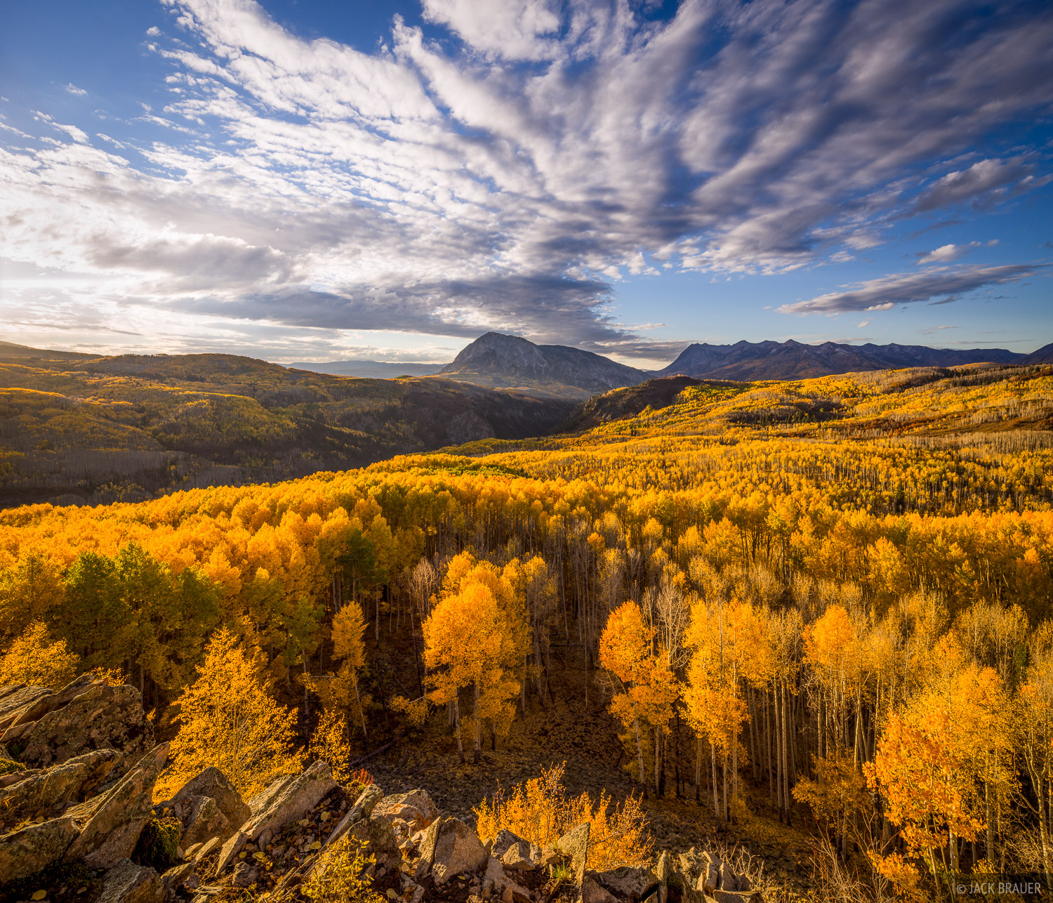 Colorado, Elk Mountains, Kebler Pass, Marcellina Mtn, October, aspens, autumn, fall, photo