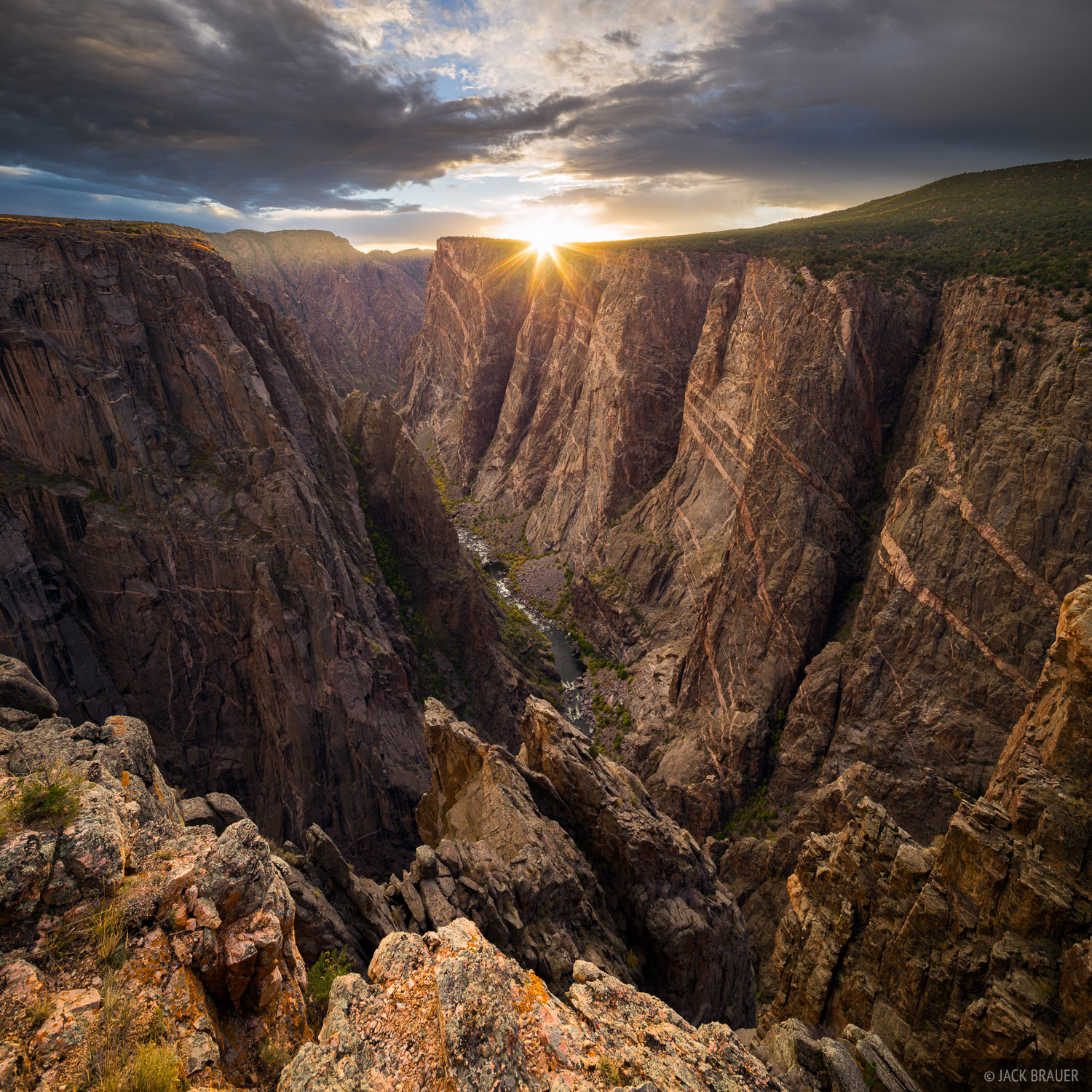 Black Canyon of the Gunnison, Colorado, Gunnison River, Black Canyon, national park, Painted Wall, sunset, photo