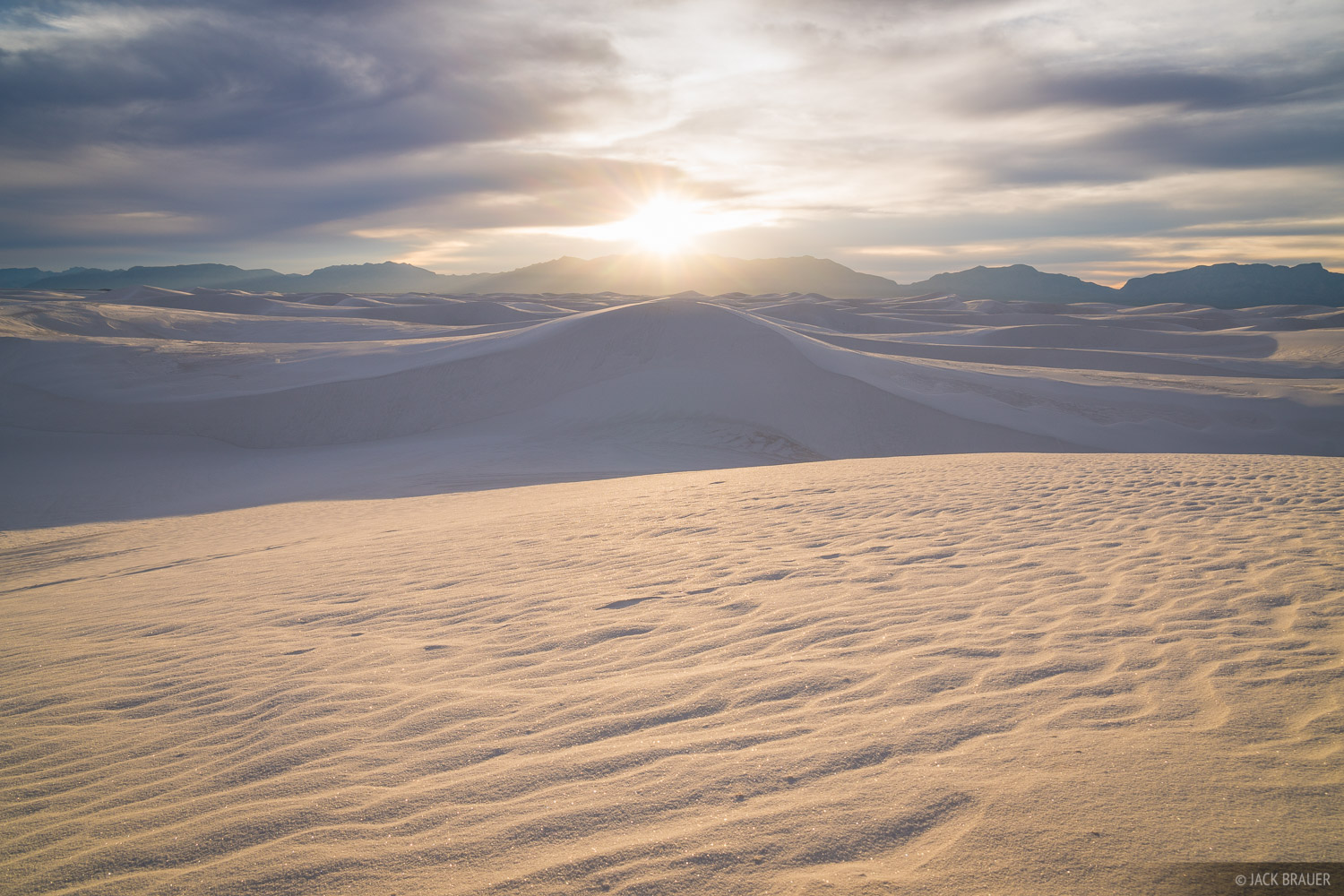 Sunset in the White Sands dunes, December.