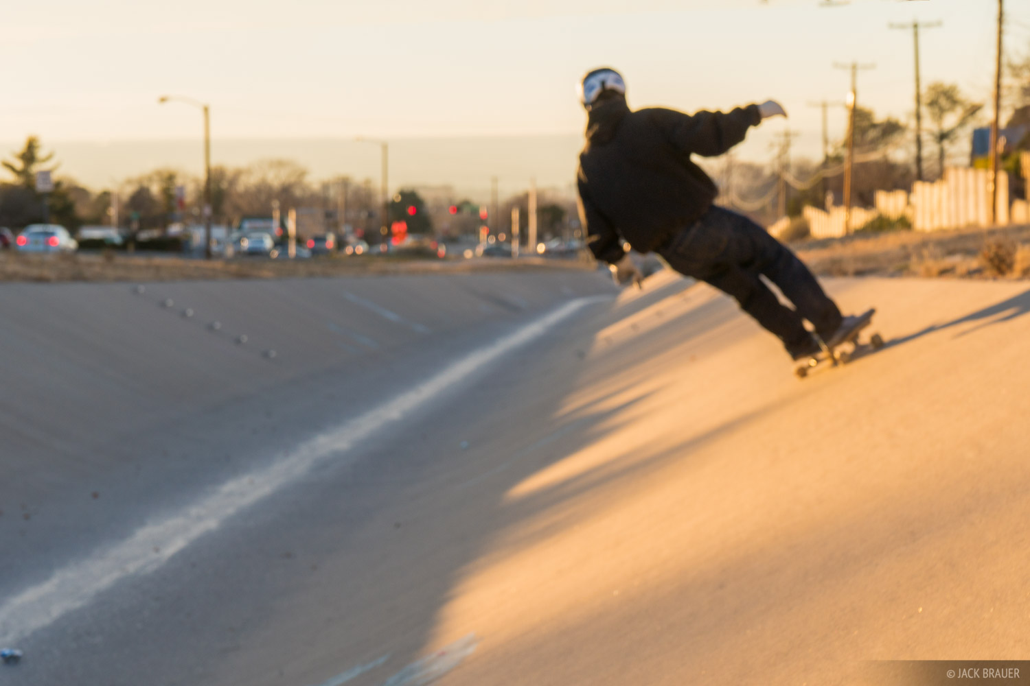 Albuquerque, Indian School Ditch, New Mexico, skateboarding, photo