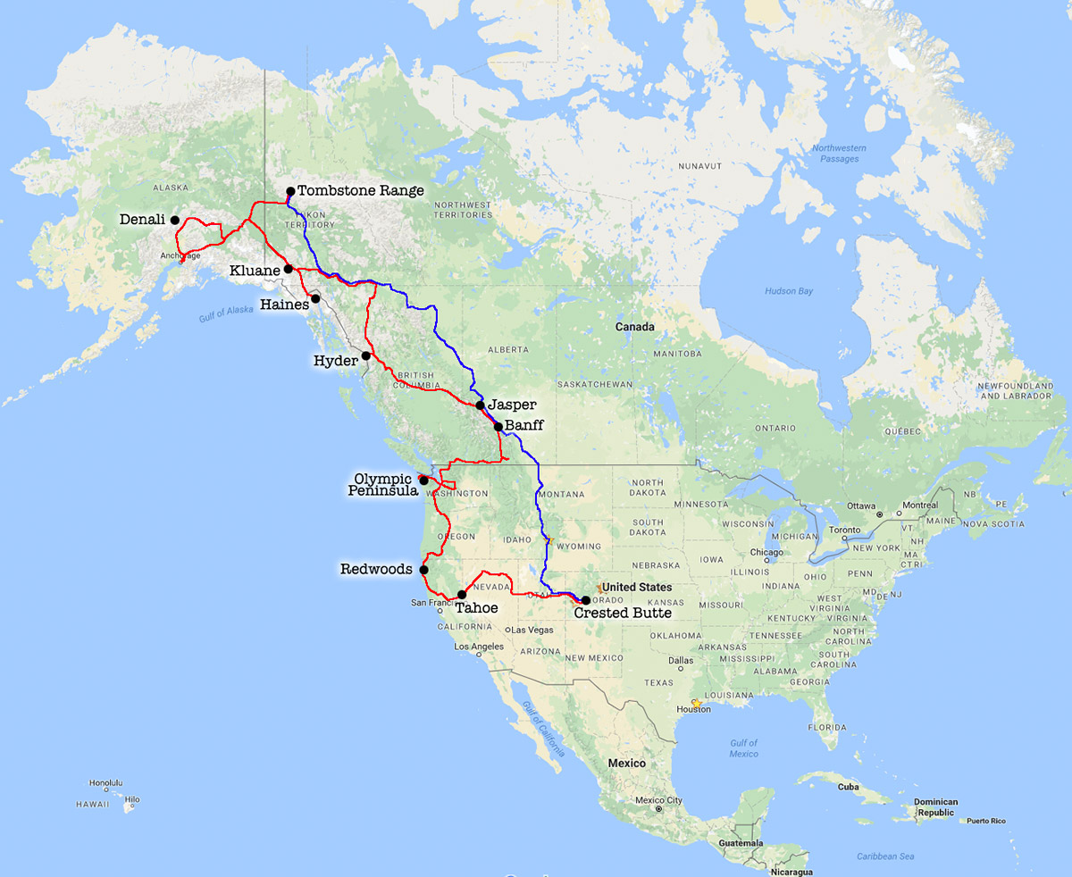 Days Of Camping From Colorado To Alaska And Back JuneSept - Road map of alaska