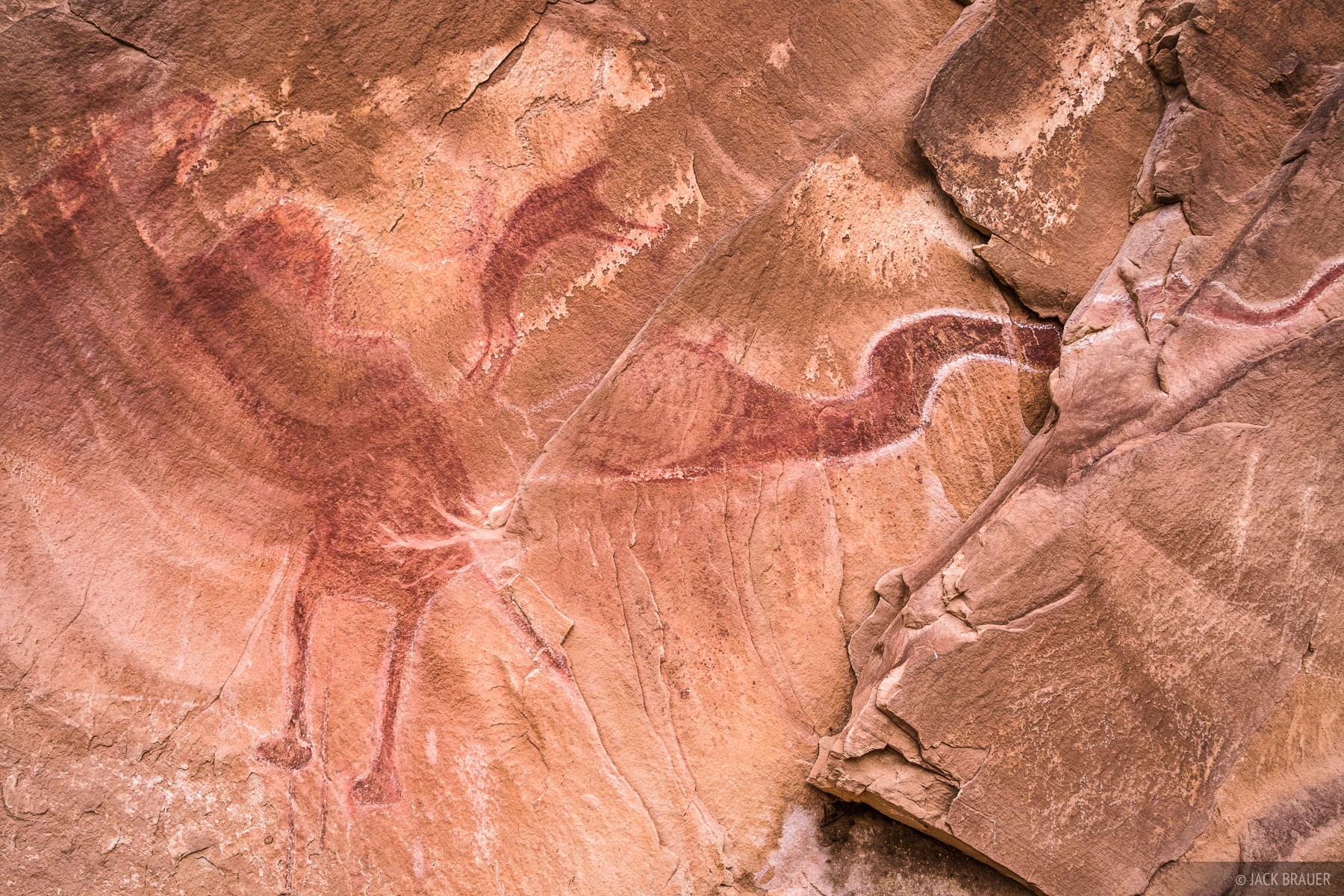 The Black Dragon pictograph in Black Dragon Wash.
