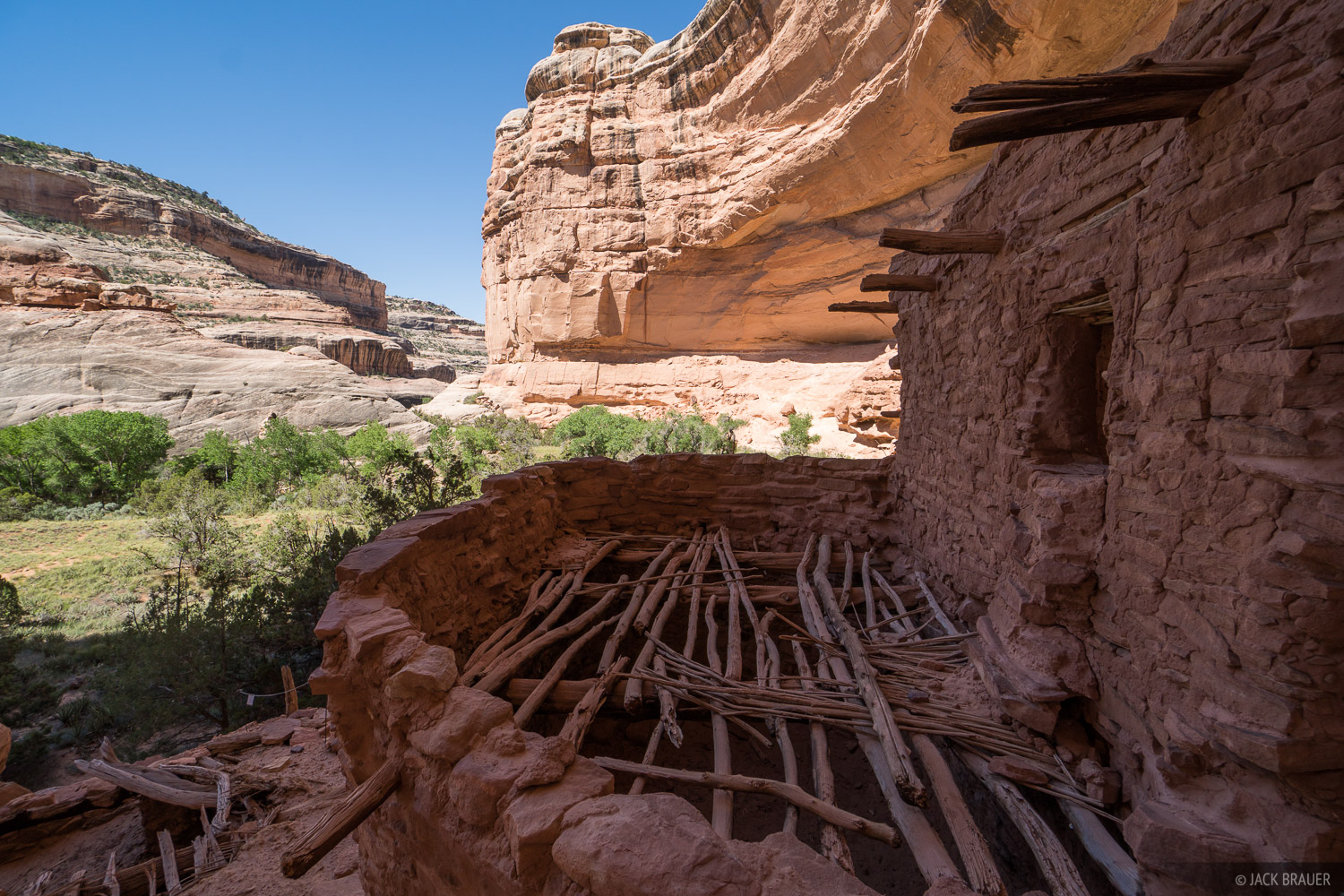 Ancestral Puebloan ruins overlook the canyon bottom where corn and other vegetables were grown approximately 1000-700 years ago...