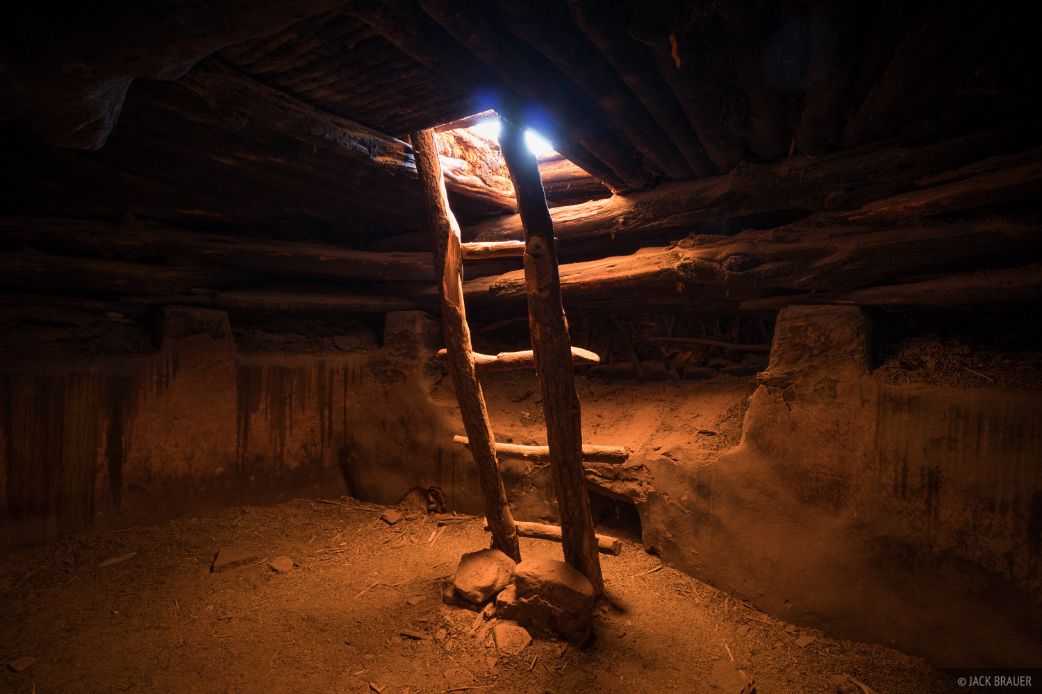 This Ancestral Puebloan kiva was discovered intact in the 1890s, but by the 1970s the roof was starting to collapse. Restoration...