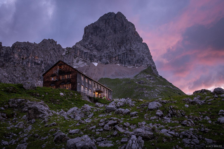 Austria, Karwendel, Lamsenjochhütte, Lamsenspitze, Alps, photo