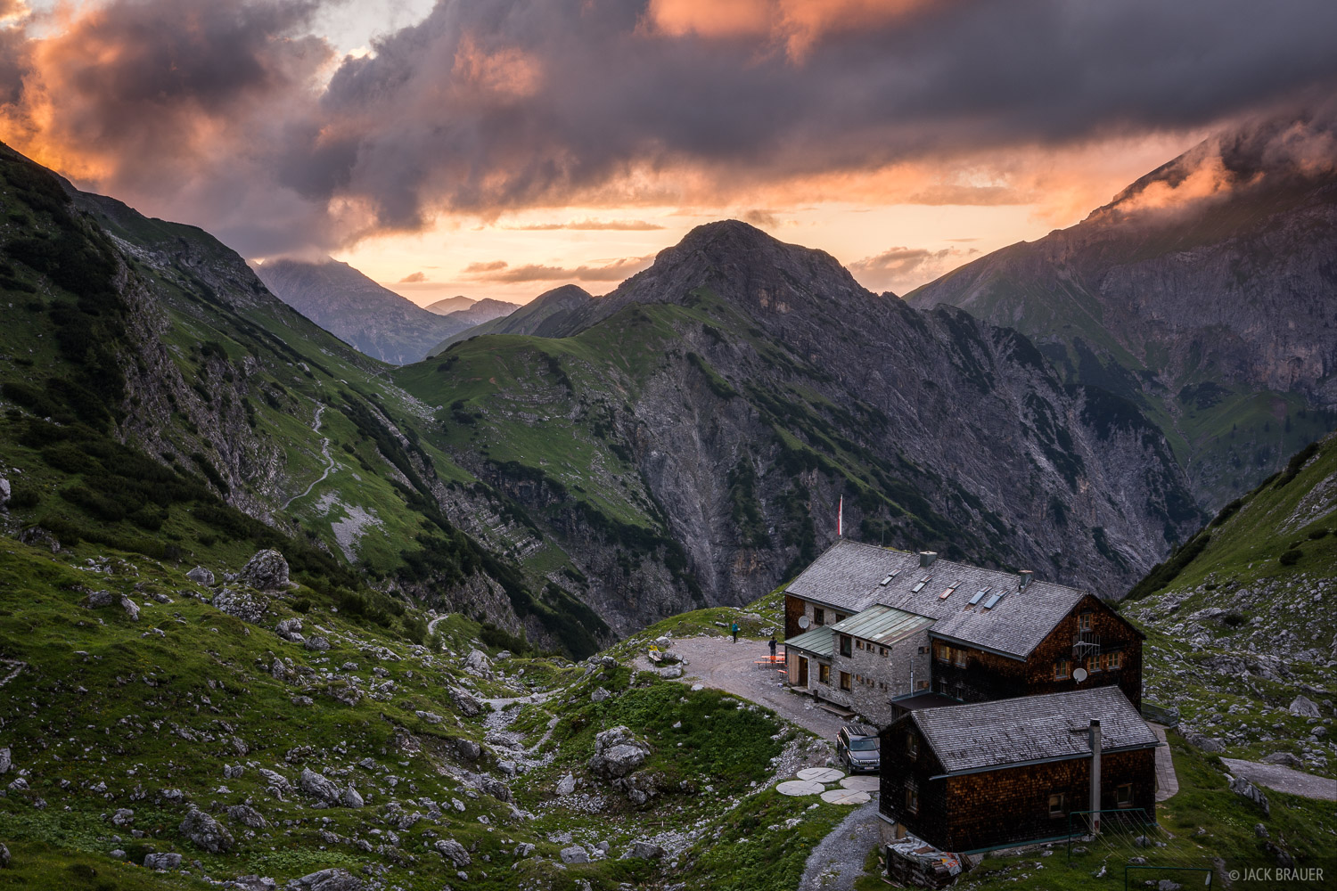 Austria, Karwendel, Lamsenjochhütte, Alps, photo