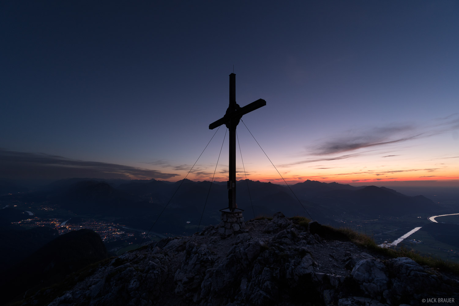 Austria, Kaisergebirge, Naunspitze, cross, Alps, photo