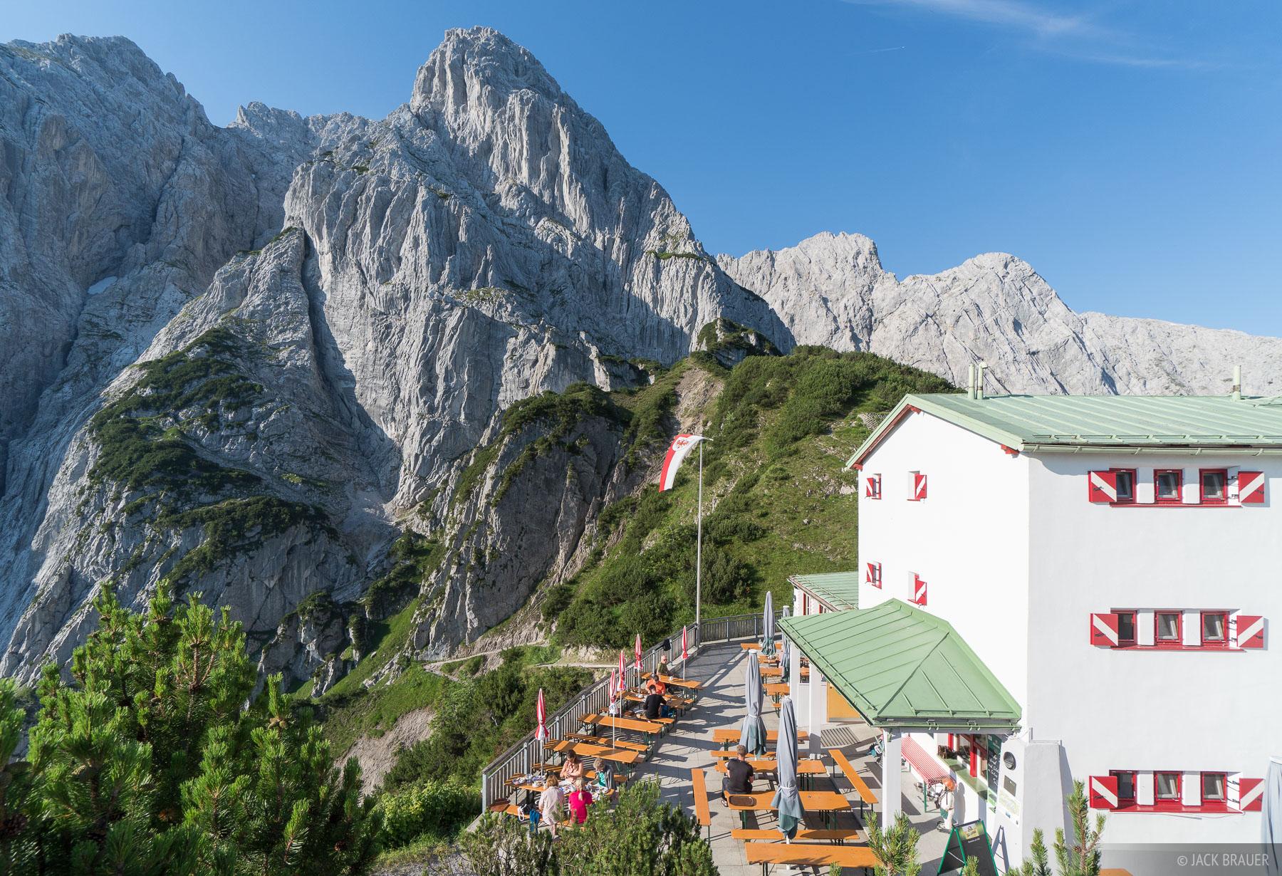 Austria, Kaisergebirge, Stripsenjochhaus, Wilder Kaiser, hut, photo