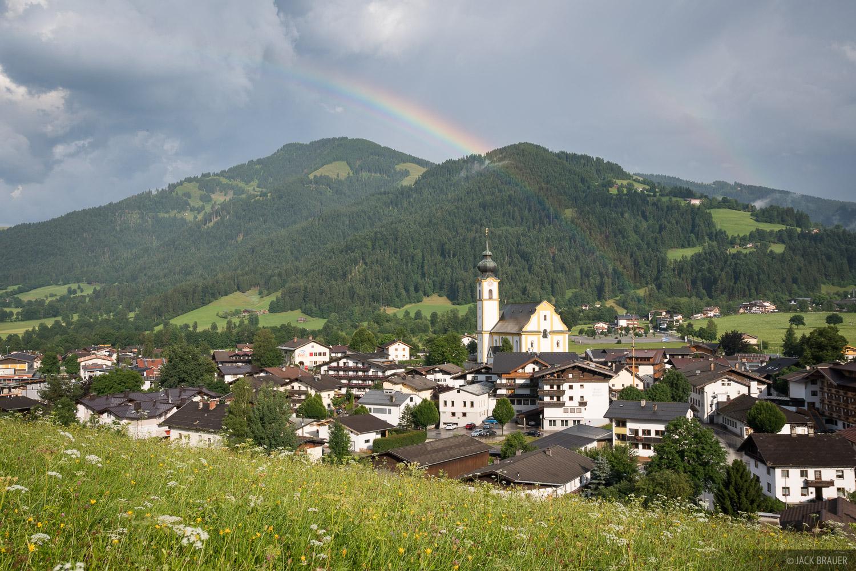 Austria, Ellmau, Kaisergebirge, Söll, rainbow, photo
