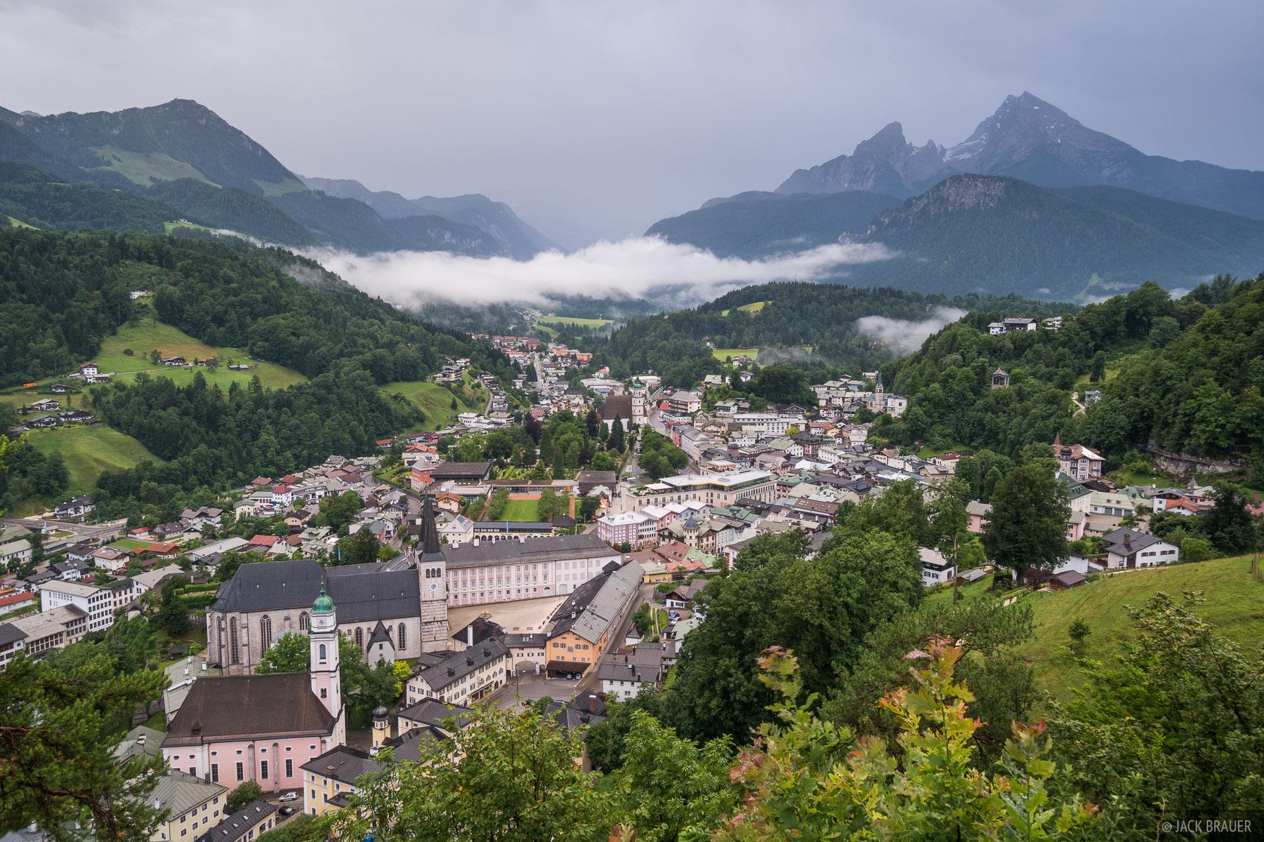 Stormy weather over Berchtesgaden.