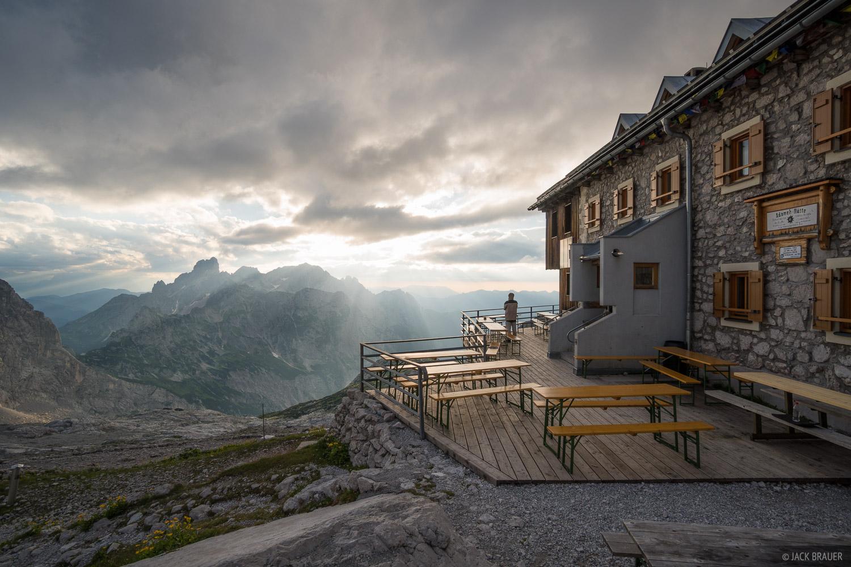 Adamek-Hütte, Austria, Dachstein, Große-Bischofsmütze, hut, photo