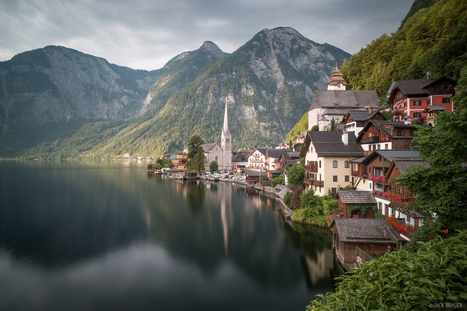 Austria, Dachstein, Hallstatt, reflection, Alps, photo