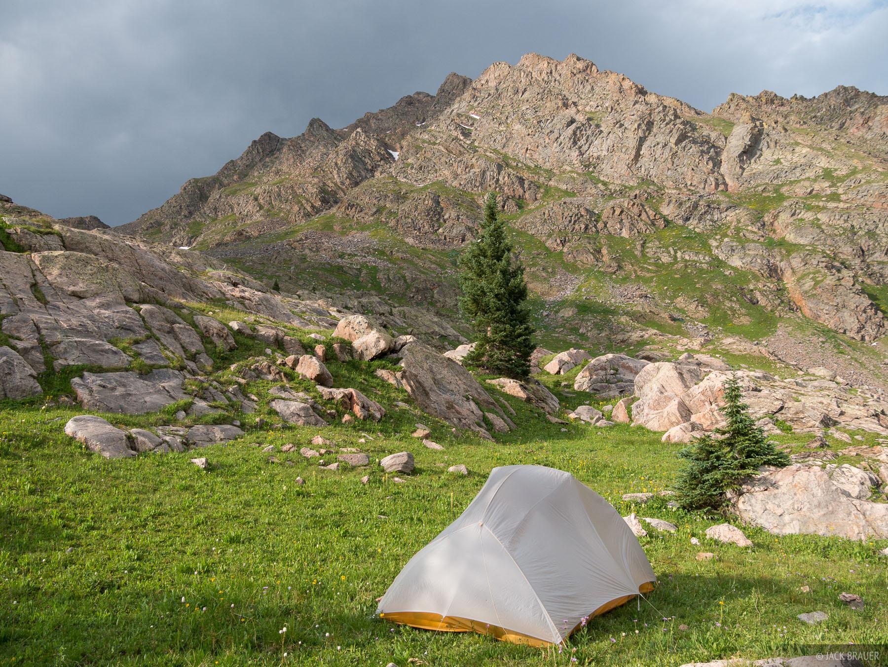 Colorado, Gore Range, tent, Eagles Nest Wilderness, photo