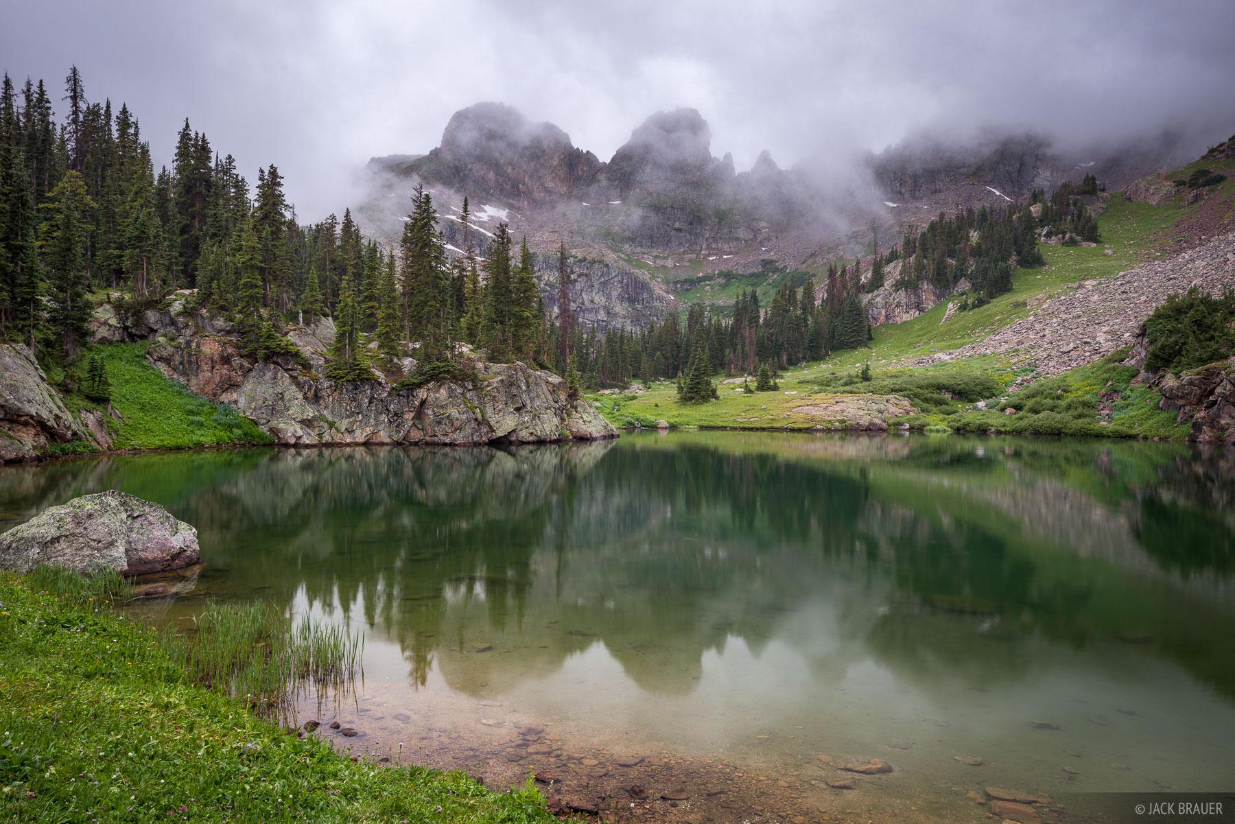 Colorado, Gore Range, Willow Lakes, Eagles Nest Wilderness, Zodiac Ridge, reflection, photo