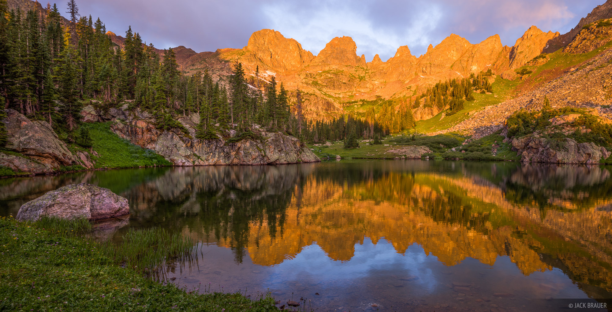 Colorado, Gore Range, Willow Lakes, Eagles Nest Wilderness, reflection, Zodiac Ridge, sunrise, photo