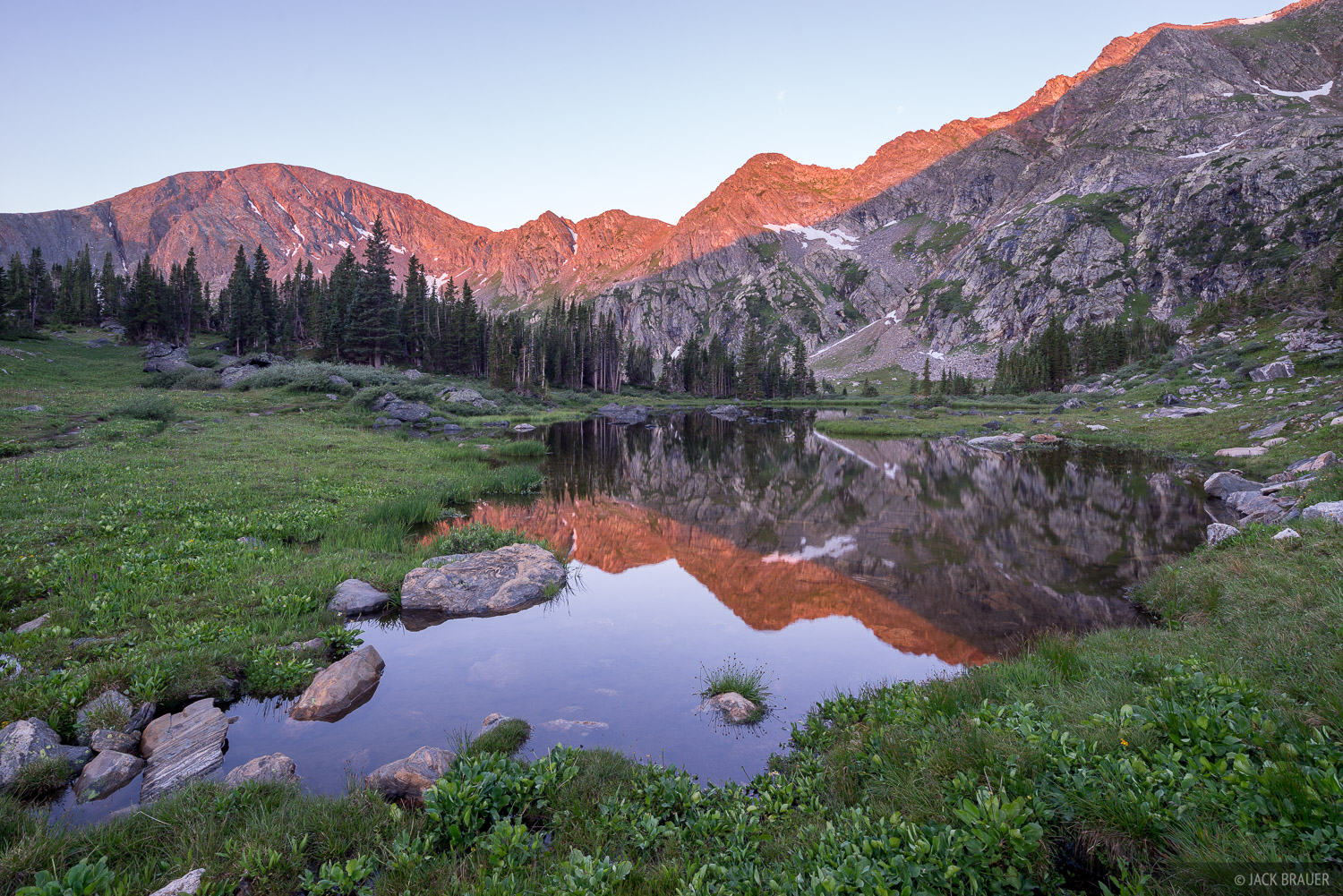 Colorado, Holy Cross Wilderness, Missouri Lakes, Sawatch Range, reflection, photo