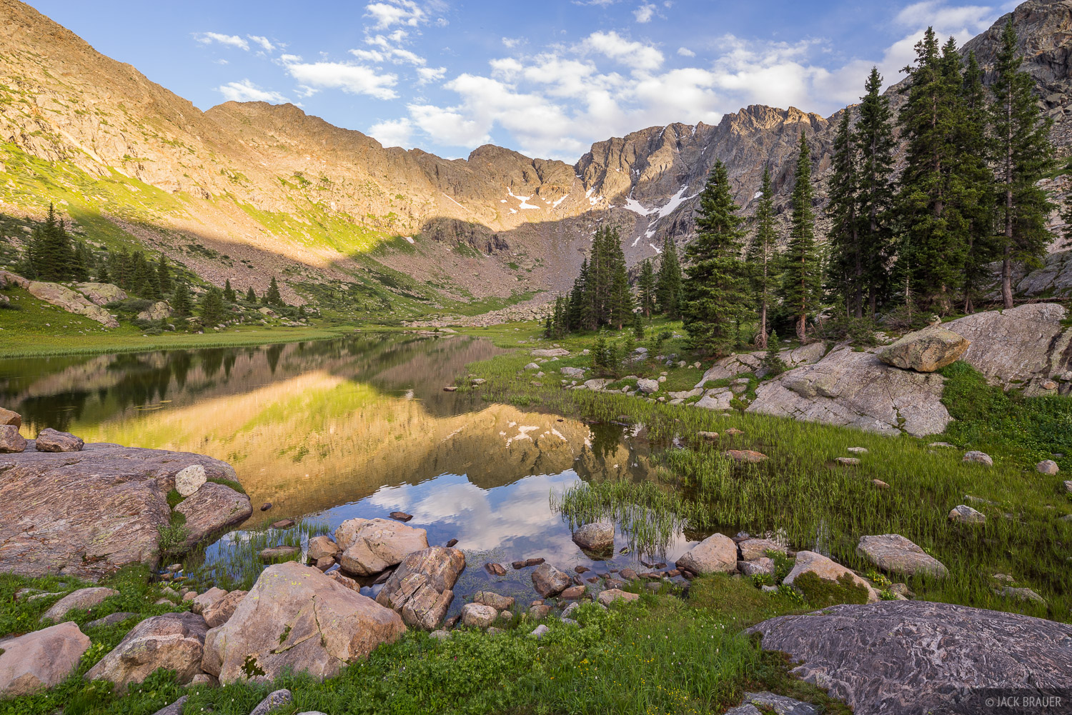 Colorado, Holy Cross Wilderness, Sawatch Range, reflection