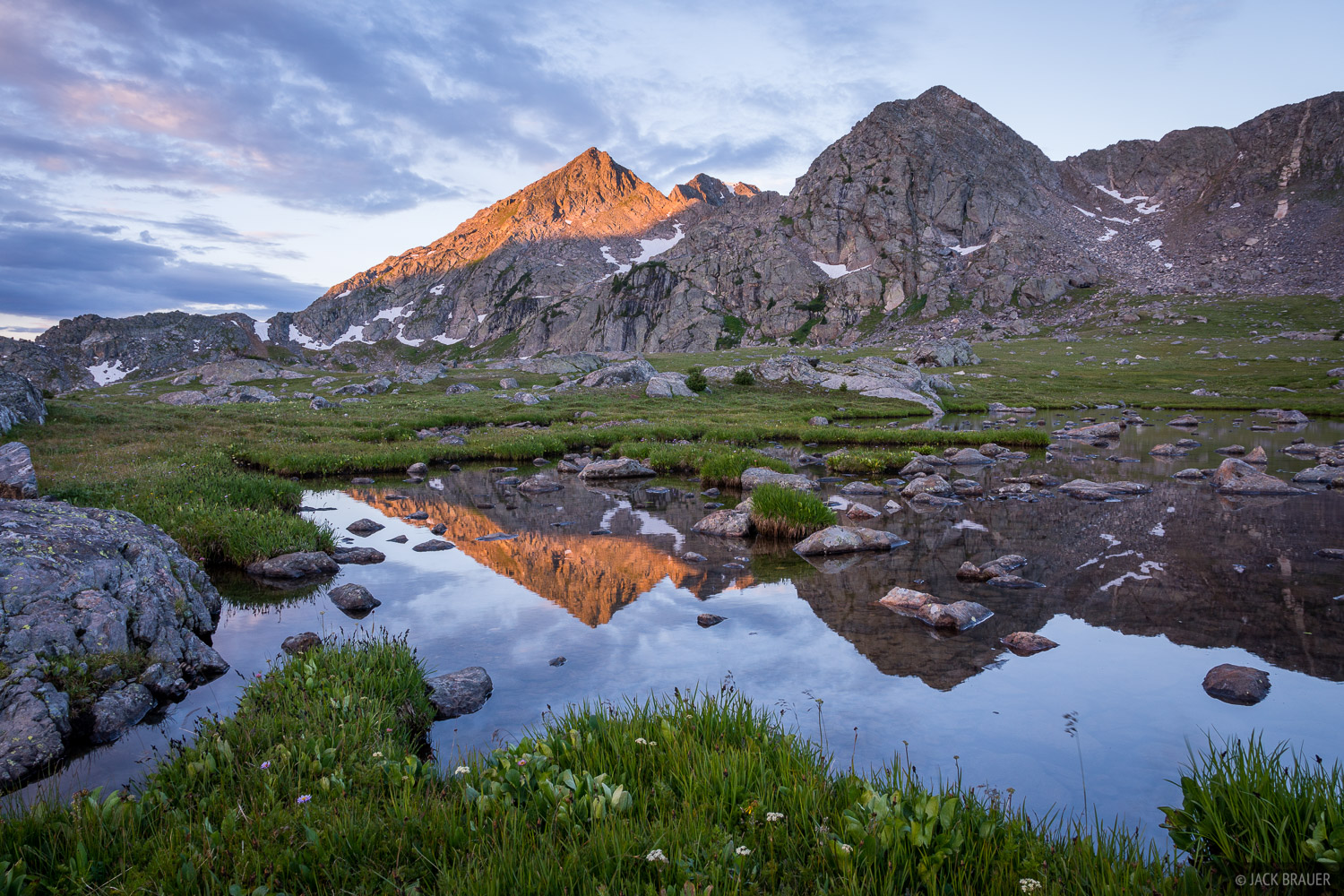 Colorado, Holy Cross Wilderness, Sawatch Range, reflection, photo