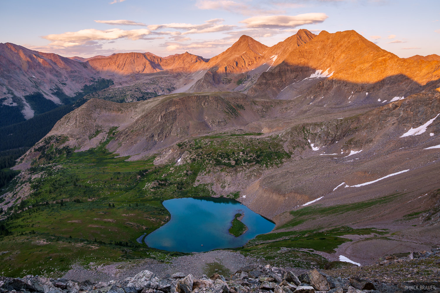Collegiate Peaks Wilderness, Colorado, Ice Mountain, Lake Ann, Sawatch Range, The Three Apostles, photo
