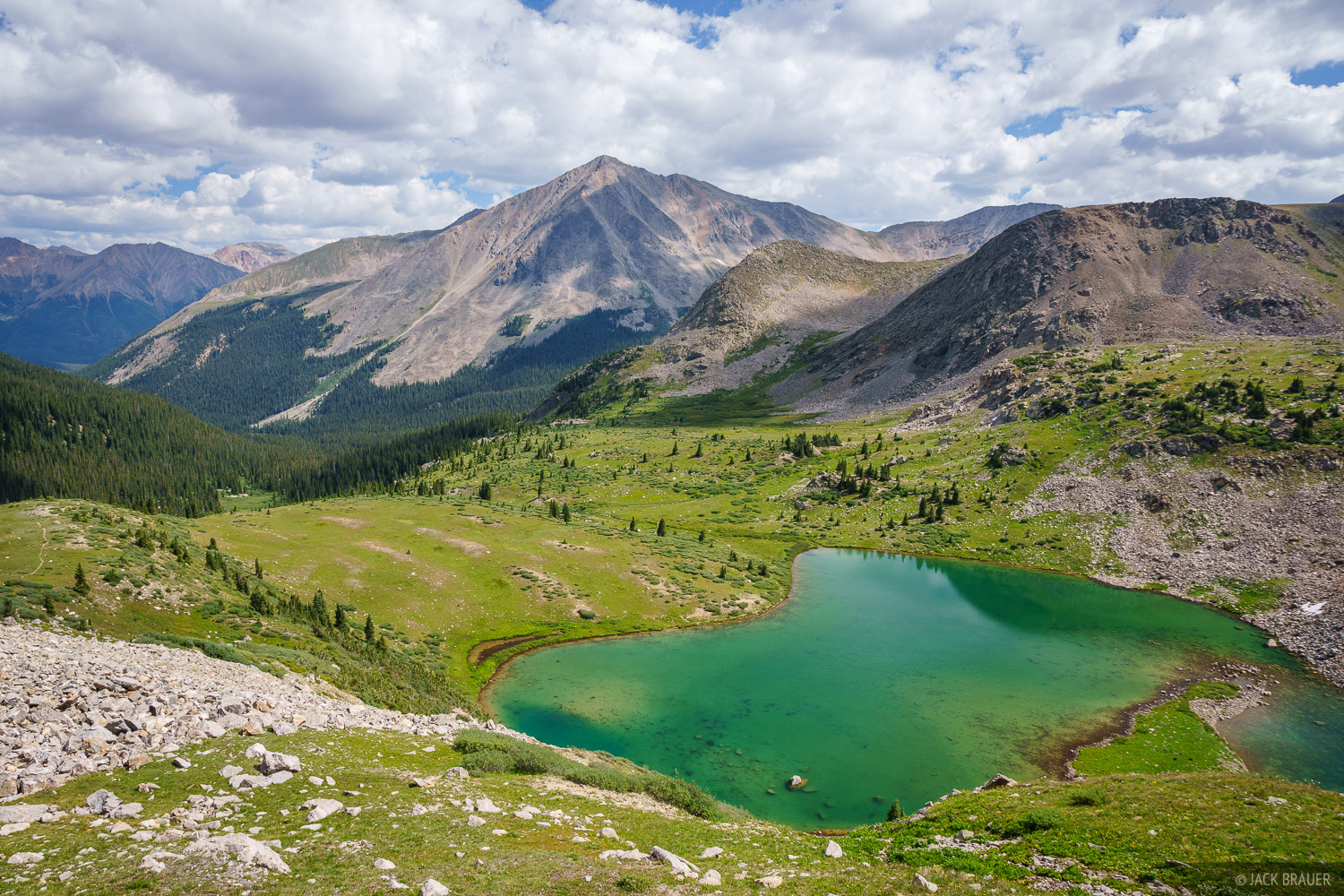 Collegiate Peaks Wilderness, Colorado, Huron Peak, Lake Ann, Sawatch Range, photo
