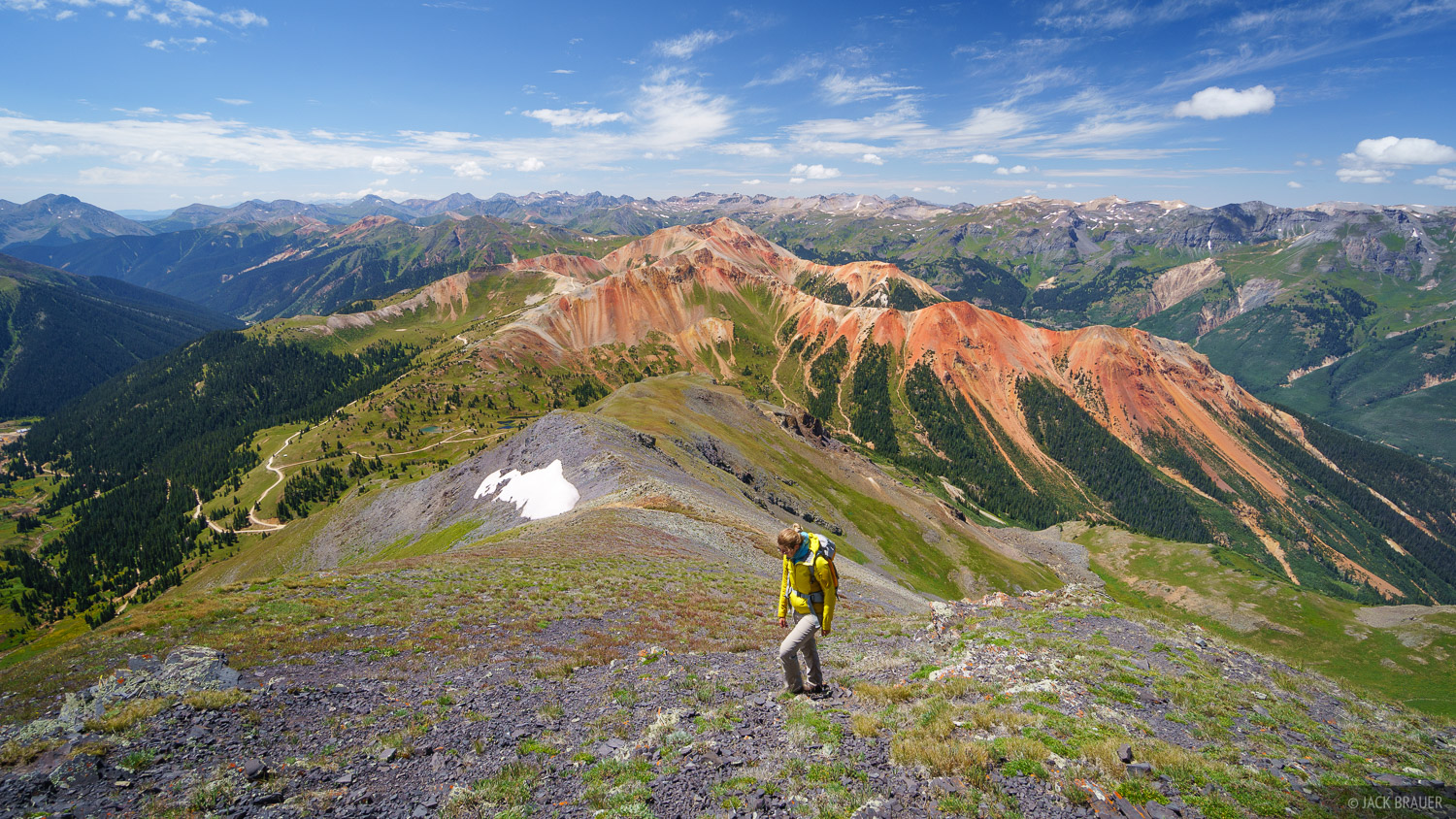 Brown Mountain, Colorado, Red Mountain, San Juan Mountains, hiking, photo
