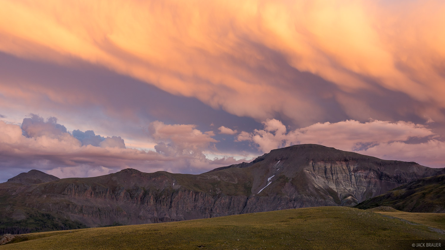 Colorado, San Juan Mountains, sunset, clouds, photo