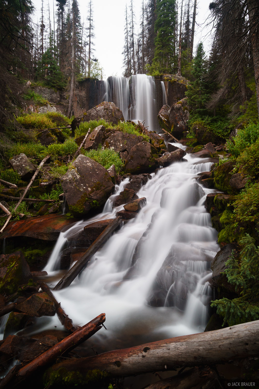 Cataract Gulch, Colorado, San Juan Mountains, waterfall, photo