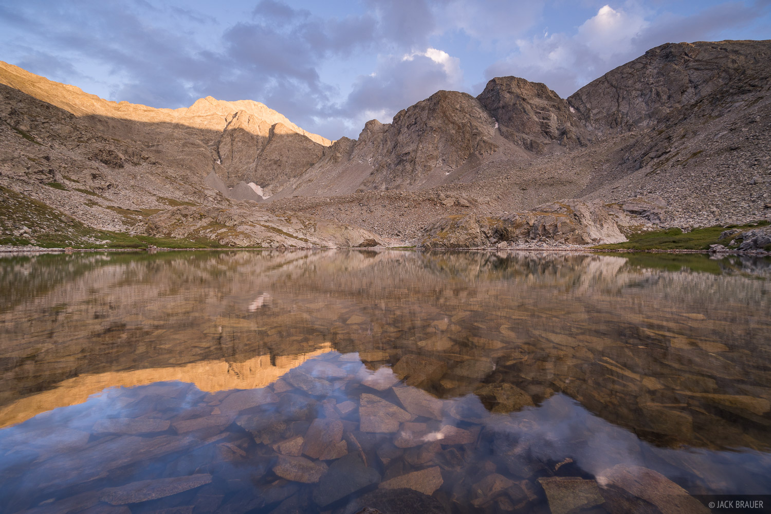 Colorado, Ellingwood Point, Sangre de Cristos, South Zapata Lake, reflection, 14er, Sangre de Cristo Wilderness, photo