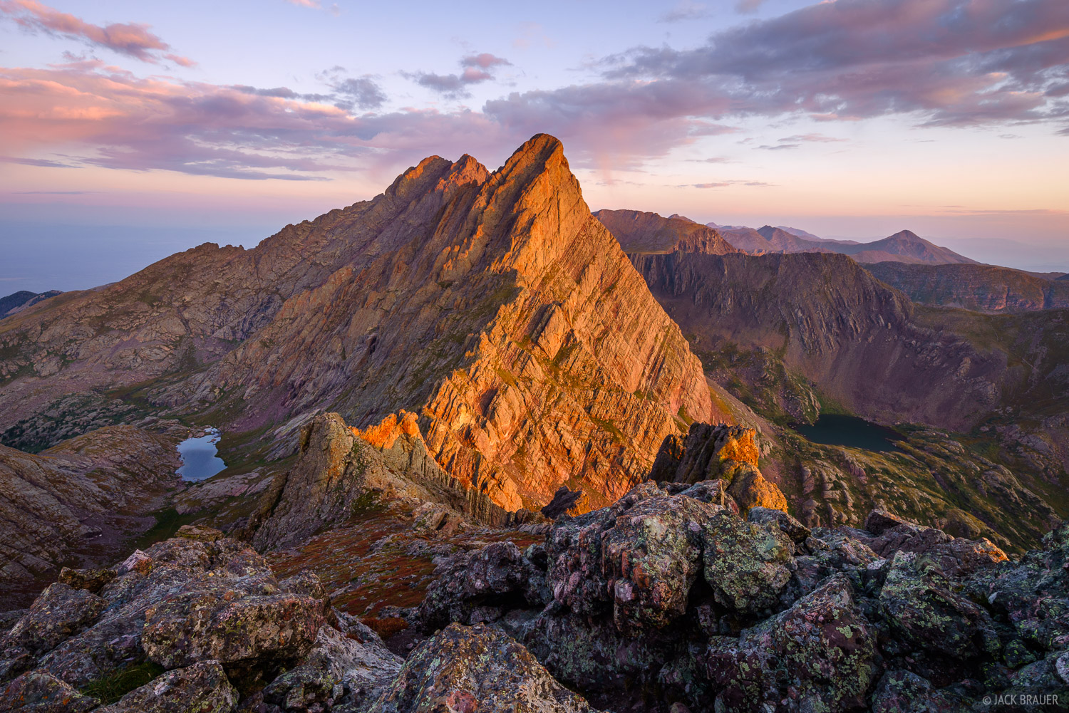 Broken Hand Peak, Colorado, Crestone Needle, Sangre de Cristos, 14er, sunrise, Sangre de Cristo Wilderness