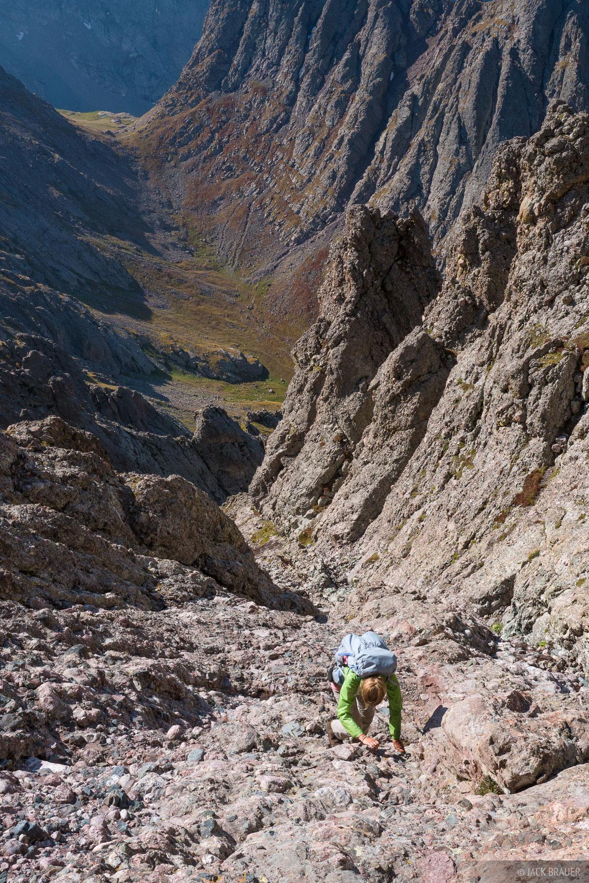 Colorado, Crestone Needle, Sangre de Cristos, 14er, hiking, climbing, Sangre de Cristo Wilderness, photo