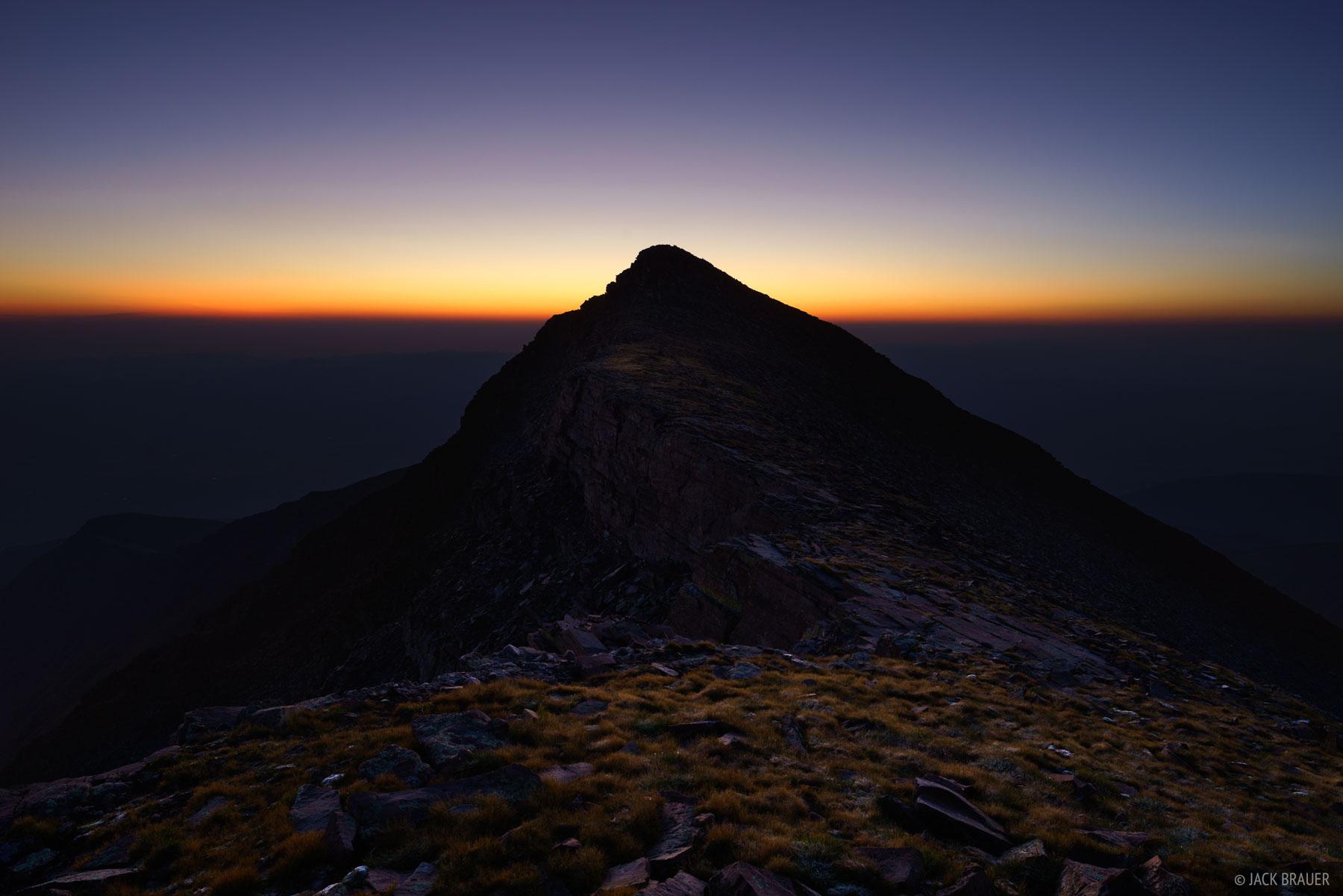 Colorado, Humboldt Peak, Sangre de Cristos, 14er, sunrise, Sangre de Cristo Wilderness, photo