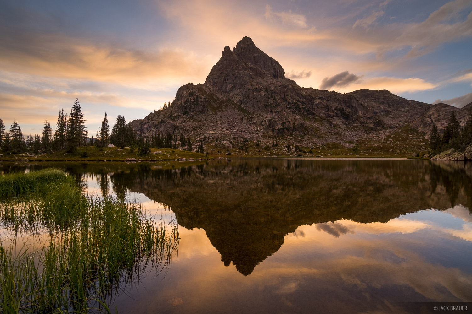 Colorado, Indian Peaks, sunset, reflection, photo