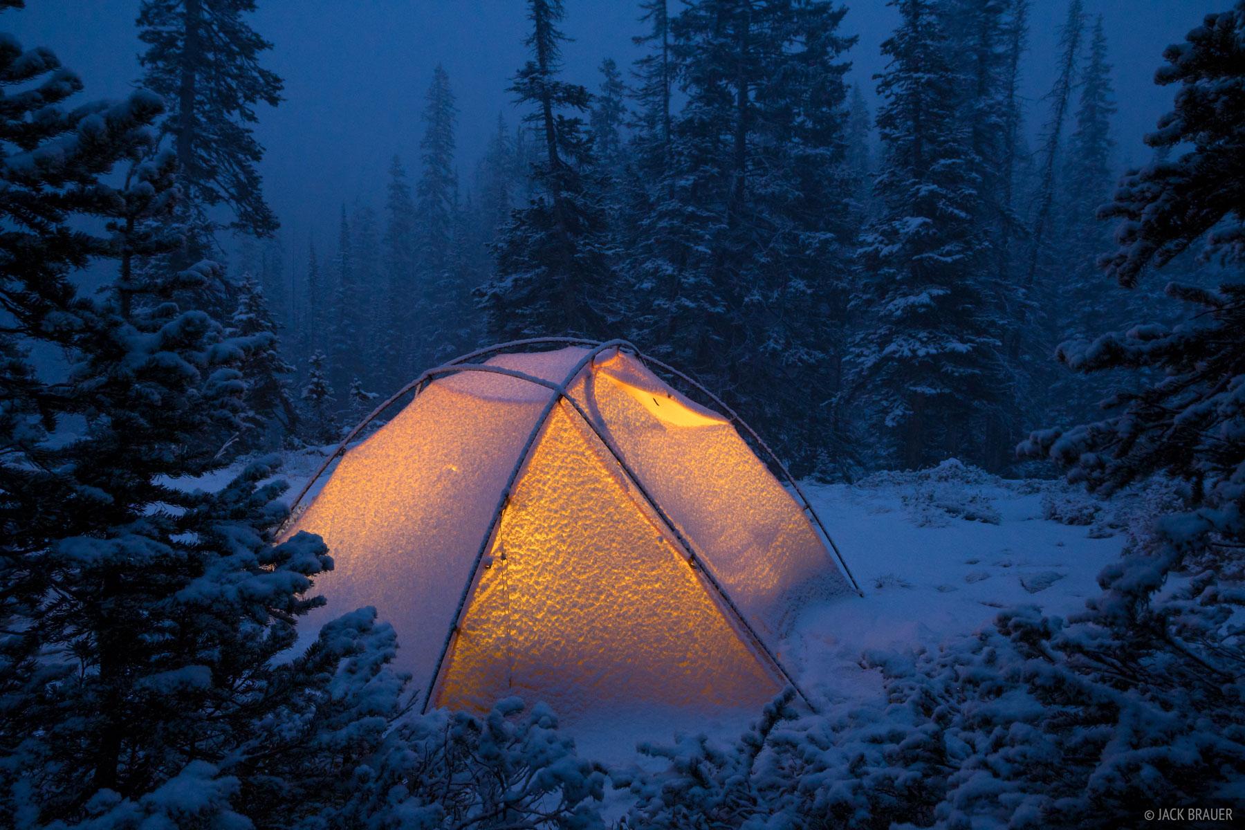 Colorado, Indian Peaks, Lone Eagle Peak, tent, Indian Peaks Wilderness, snow, photo