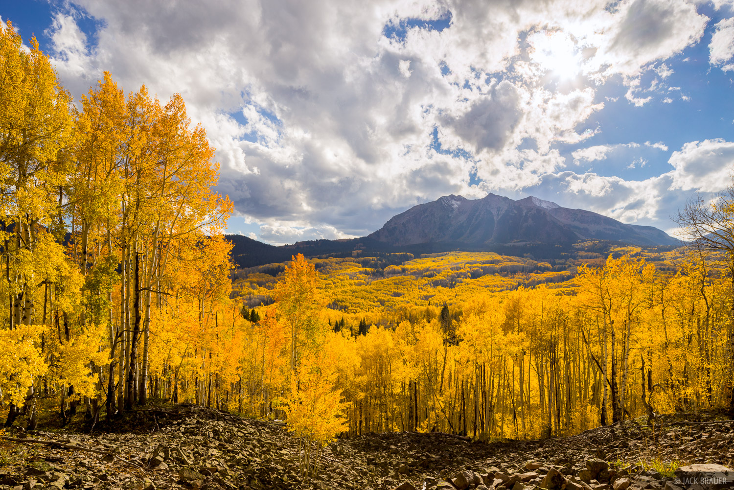 Colorado, Elk Mountains, Kebler Pass, aspens, October, East Beckwith Mountain, photo
