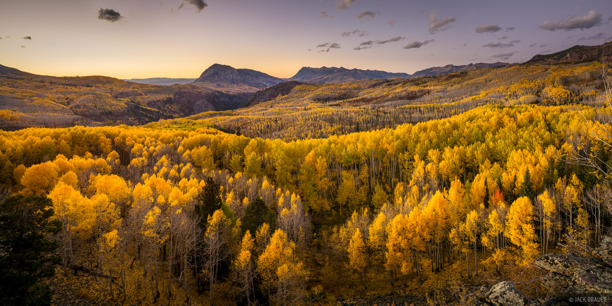 Colorado, Elk Mountains, Kebler Pass, October, Ruby Anthracite Creek, Marcellina Mountain, Raggeds Wilderness, aspens, photo